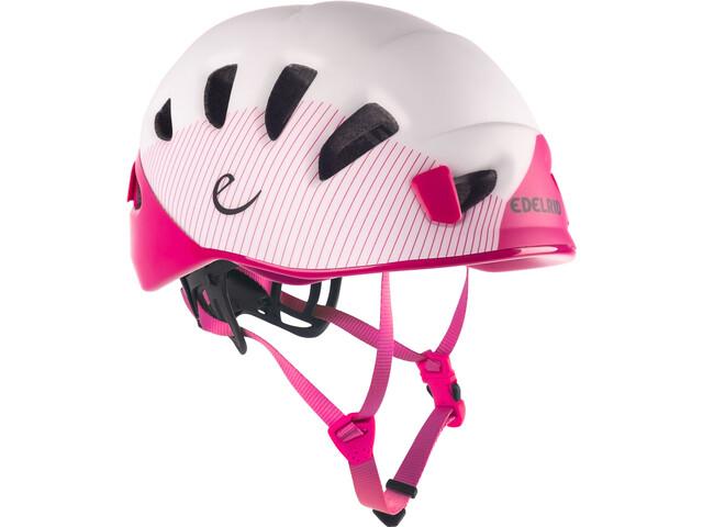 Edelrid Shield II Casco, rosa/blanco